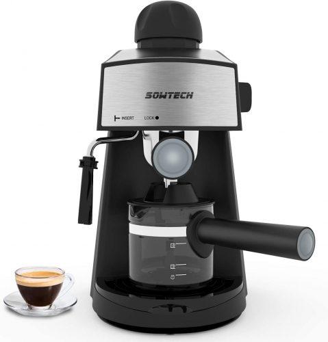 10. Espresso Machine 3.5 Bar 4 Cup Espresso Maker Cappuccino Machine