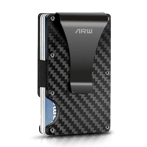 Carbon Fiber Wallet, ARW Metal Money Clip Wallet | Slim Wallets For Men