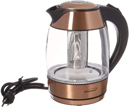 9. Brentwood KT-1790RG 1.7L Stainless Steel Cordless Electric Kettle