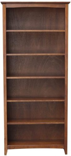 7. International Concepts Shaker Bookcase, 72-Inch