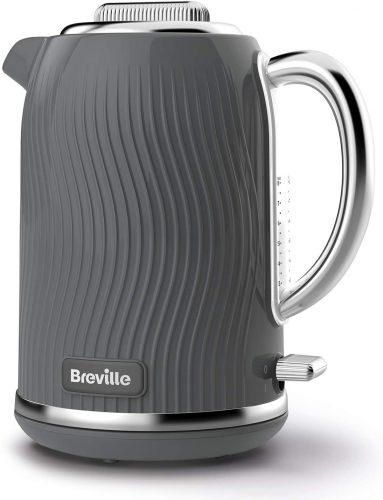4. Breville VKT092 Flow Electric Kettle, 1.7 L, 3 KW Fast Boil, Grey