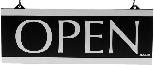 "4. Headline Sign - Century Series 2-Sided Reversible""Open"" /""Closed"""