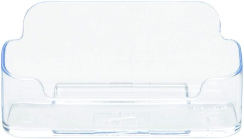 1. Deflecto Business Card Holder, Single Compartment