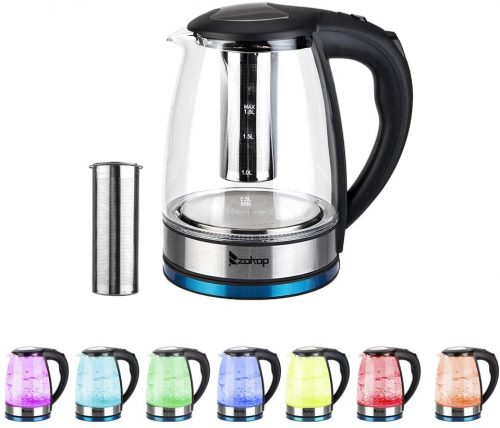 10. ROVSUN Zokop Multi-Use Glass Electric Kettle