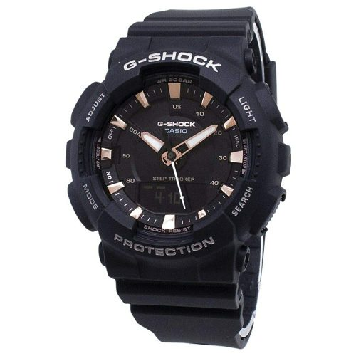 4. Casio GMAS130PA-1A G-Shock Step Tracker Women's Watch Black