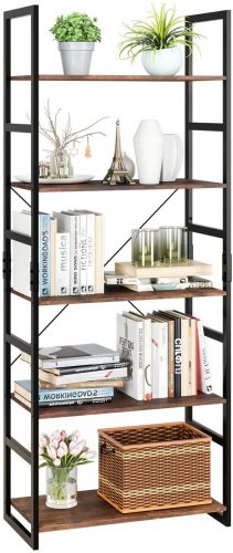 8. Homfa 5-Tier Bookshelf Rack