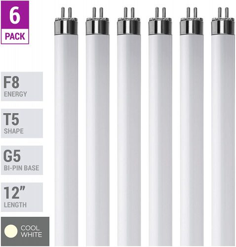 10. (Pack Of 6) F8T5/CW - T5 Fluorescent 4100K Cool White