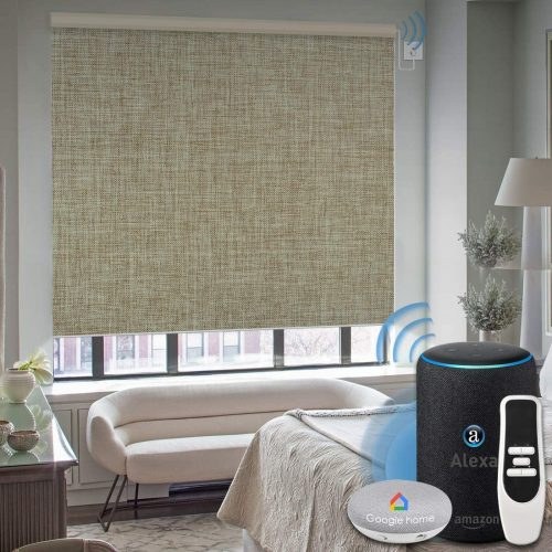 Graywind Motorized 100% Blackout Roller Shade