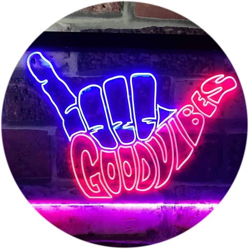 9. ADV PRO Good Vibes Only Hand Party Decoration Dual
