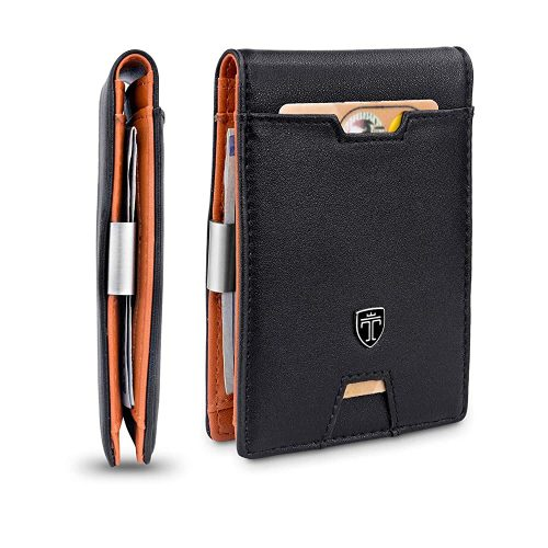 TRAVANDO Slim Wallet with Money Clip AUSTIN RFID| Slim Wallets For Men