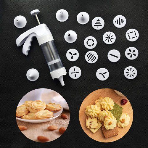 8. Cookie Press Gun Set - Cookie Press Kit Manual Biscuit Maker