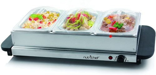 2. NutriChef 3 Buffet Warmer Server Professional Hot Plate Food Warmer