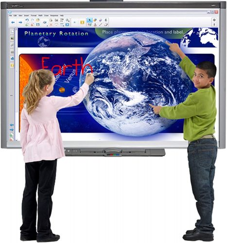 """6. 77"""" Interactive whiteboard with Projector Bundle for Classroom"""