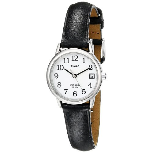 10. Timex Women's Indiglo Easy Reader Quartz Analog Leather