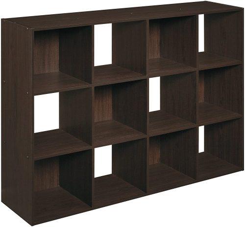 7. ClosetMaid 1292 Cubeicals Organizer, 12-Cube, Espresso