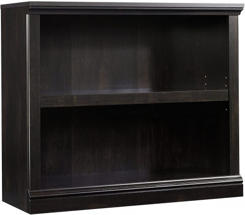 9. Sauder 2-Shelf Bookcase, Estate Black finish