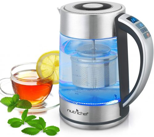 6. Hot Water Boiler Glass Kettle - Digital 1.7L Portable