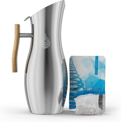 5. Invigorated Water pH Vitality Stainless Steel Alkaline Water Pitcher