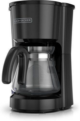 6. BLACK+DECKER 5-Cup Coffeemaker, Black