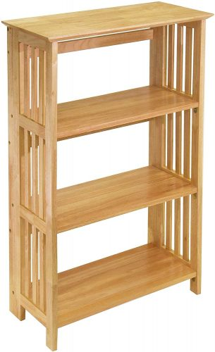8. Winsome Wood Mission Shelving, Natural