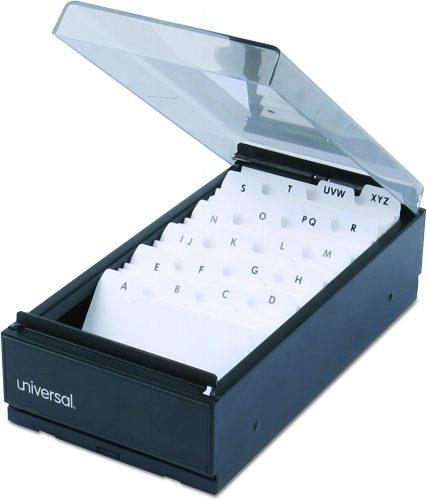 3. Universal 10601 Business Card File, Metal/Plastic