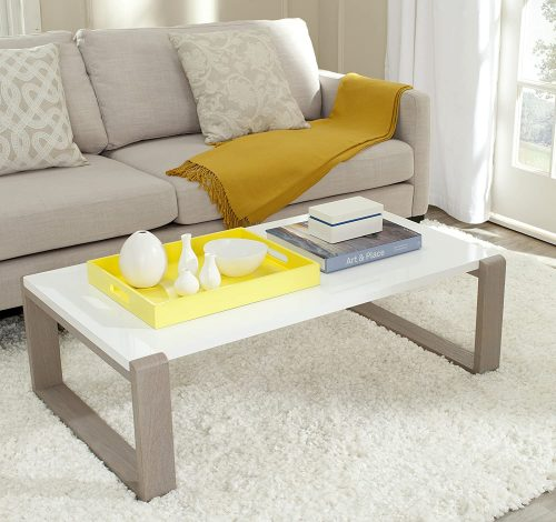 9. Safavieh White and Grey Coffee table