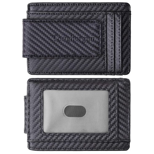 Toughergun Genuine Leather Magnetic Front Pocket Money | Slim Wallets For Men