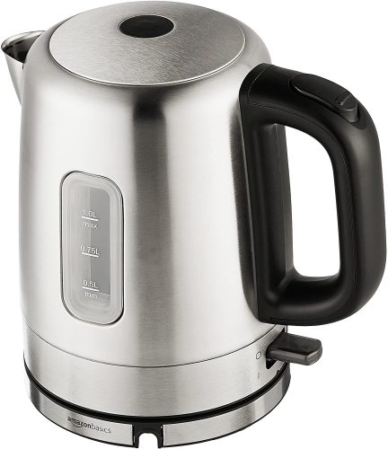 8. AmazonBasics Stainless Steel Portable Electric Hot Water Kettle - Stainless Steel Kettle
