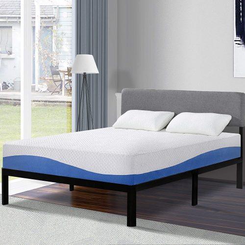 5. Olee Sleep 10 Inch Gel Infused Layer Top Memory Foam Mattress Blue