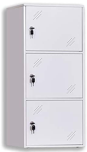NITETRONIC 3-Door Assembled and Combinable Office Metal File Locker- Storage Locker