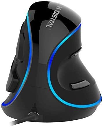 J-Tech Digital Wired Ergonomic Vertical USB Mouse