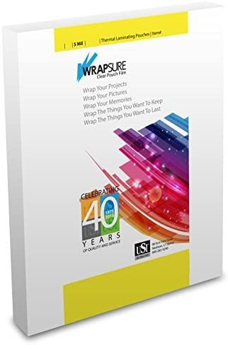 Wrapsure USI WrapSure Thermal (Hot) Laminating Pouches