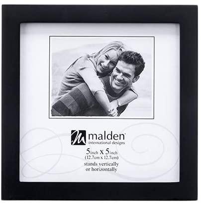 4. Malden International Design Black Concept Wood Picture Frame 5*5 - Square Picture Frame