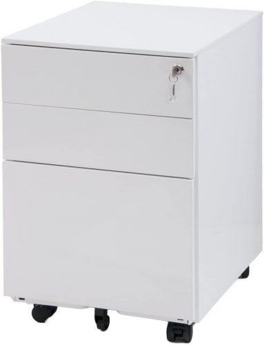 4. Meritline 3 Drawer File Cabinet Mobile Metal Lockable