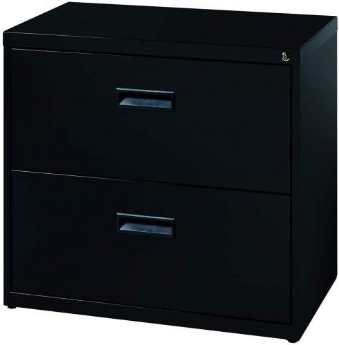 1. Hirsh SOHO 2 Drawer Lateral File Cabinet
