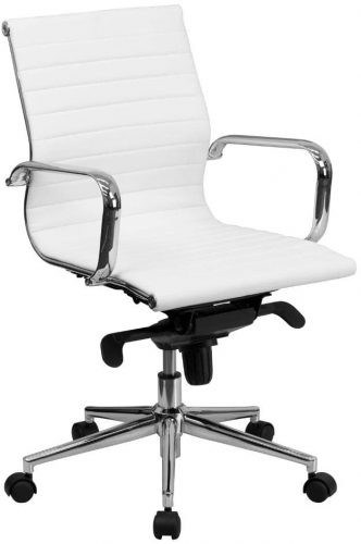 10. Flash Furniture Mid-Back Leather Office Chair