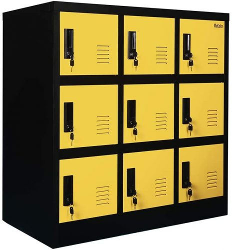 MECOLOR FURNITURE Yellow Color Heavy Duty Storage - Storage Locker
