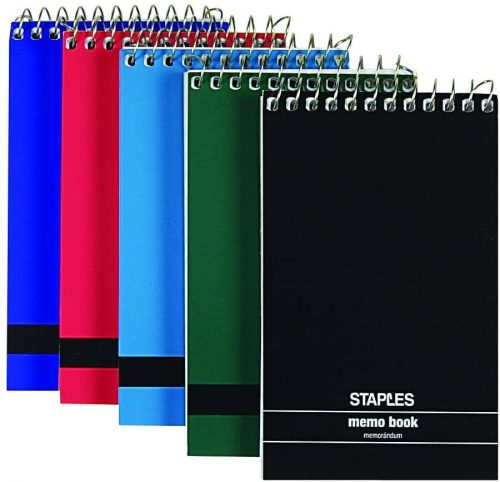 Staples Top Bound Memo Books - Lined Notebook