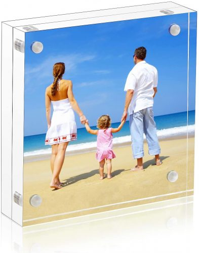 2. Niubee 5*5 Clear Acrylic Picture Frames - Square Picture Frame