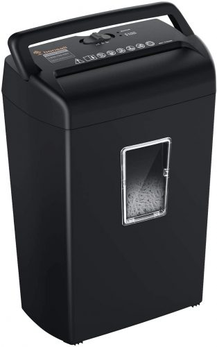 Bonsaii 10-Sheet Cross-Cut Paper Shredder - Heavy Duty Paper Shredder