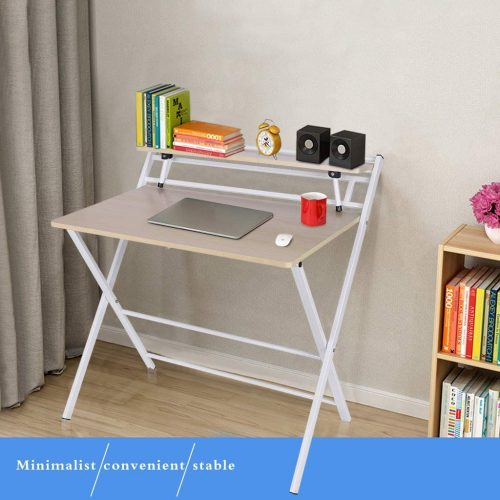 Weite Folding Computer Desk with Shelf