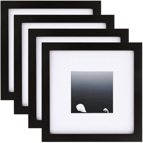 7. Egofine 8*8 Picture Frames 4-Pieces - Square Picture Frame