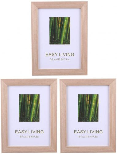 9. Exceart Solid Oak Wood Picture Frame
