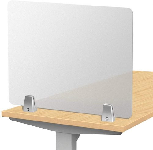 7. Owfeel Frosted Desk Divider Office Partition Privacy Desk Pane