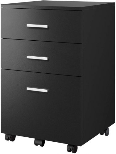 5. DEVAISE 3 Drawer Mobile File Cabinet