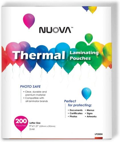 6. Nuova Premium Thermal Laminating Pouches - Laminate Sheet