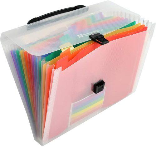 6. YOTINO Large Capacity Expanding File Folders - Plastic File Folders