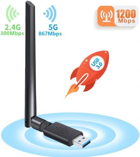 Carantee USB Wi-Fi Adapter 1200Mbps