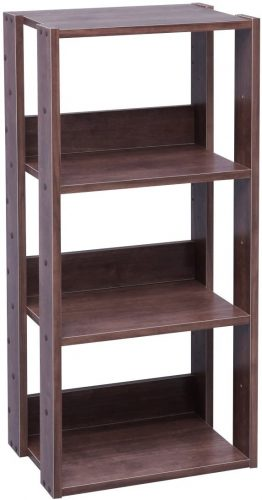IRIS USA 3-Tier Open Wood Bookshelf