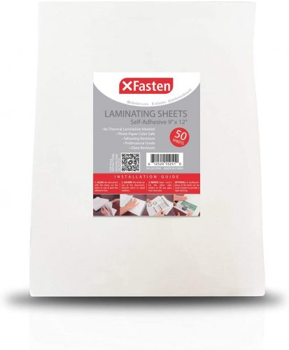 5. XFasten Self-Adhesive Laminating Sheets - Laminate Sheet